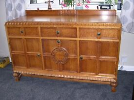 Solid oak sideboard in good condition buyer collects circa 1900