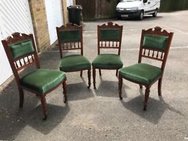 Set of 4 Victorian dining room chairs