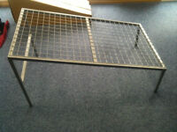 Diagonal Grey Metal Mesh Display Tables, Used for Pram Display (Many Available)
