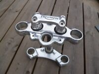 Triumph Legend TT Yokes and Handle Bar Clamp
