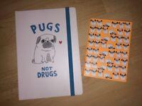 Pug notebook / dog notebook