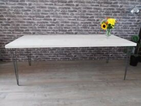 Lime Washed Table with Hairpin Legs. £190.00