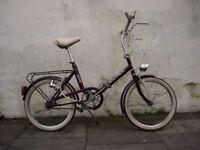 Classic Shopper Bike, by BSA, Burgundy, 20 inch Wheels, All Original!!, JUST SERVICED/ CHEAP PRICE!!