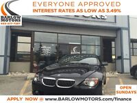 2006 BMW 650 CONVERTIBLE/HEATED SEATS/LEATHER/V8