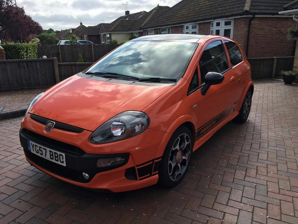 fiat grande punto abarth kit 2007 1 9 multijet sporting 130 bhp orange in denmead hampshire. Black Bedroom Furniture Sets. Home Design Ideas