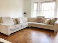Sterling Furniture Corner Fabric Sofa