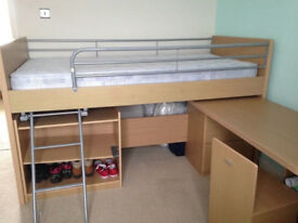 Dreams - Hampshire Cabin Bed with Desk & Storage