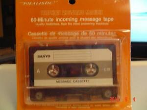60- MIN. SANYO TELEPHONE ANSWERING MACHINE INCOMING MESSAGE TAPE