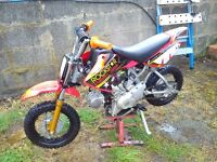 demon x 90cc pit bike semi auto 2014 vgc