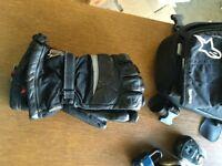 Hein Gericke Goretex leather motorcycle gloves size XL