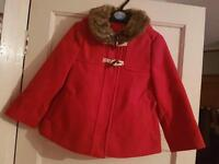Baby girl coat age 1.5 to 2 years NEW