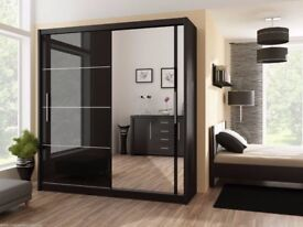 ⭕🛑⭕THE BIG SALE ⭕🛑⭕Victor Luxury Sliding Door Wardrobe in 3 Colours - SAME DAY DELIVERY!
