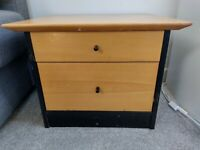 Bedside cabinet with draws