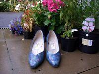 Blue Renata Designer Collection Italian high heeled shoes