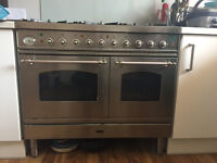 Britannia 6 Burner 100cm wide dual fuel cooker and electric ovens