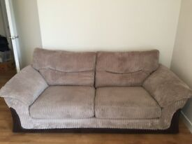 DFS Jumbo Cord 3 seater sofa Mink colour