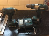 2 Makita drills with charger