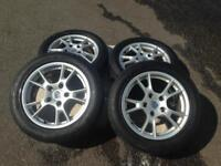 "Porsche Boxster 17"" alloy wheels X4 with tyres"