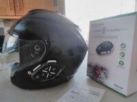 Openface Motorcycle Helmet With Bluetooth Intercom Sterio Internal Helmet Speakers