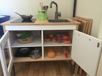 IKEA kids kitchen with accessories