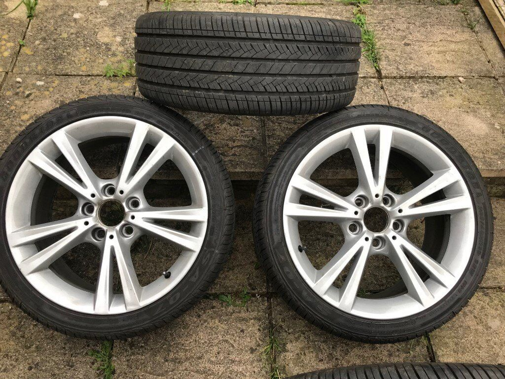 bmw 1 2 3 4 and 5 series 18inch alloy wheels with almost brand new tires