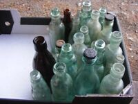 COLLECTION OF 21 OLD BOTTLES FROM IPSWICH SUFFOLK