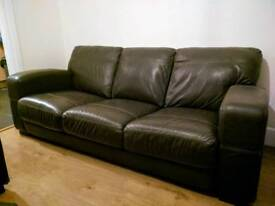 3 seater leather sofa + armchair - Super Comfy!