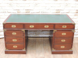 Military Hardwood Solid and Quality Unique Desk 3 parts (Delivery)