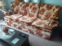 2 piece floral Sofa & Chair