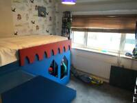 Customised Cabin Bed with ladders and Slide