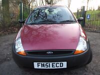 Ford KA 1.3 3dr NEW CLR MOT, LOW MILE, CHP TAX 2001 (51 reg), Hatchback