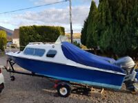 Microplus Explorer 16ft Boat with 40hp Yamaha 4 stroke outboard engine, plus 5hp back up.