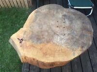 Solid beech wood garden patio table