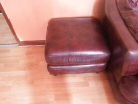 Burgundy leather puffer