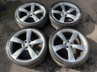 21'' GENUINE A7 S LINE BLACK EDITION ROTOR TTRS ALLOYS ALLOY WHEELS TYRES 5X112