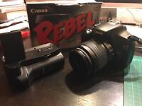 Canon DSLR 1100d/ Rebel T3 with 2 lenses and bag