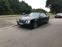 Automatic Mercedes CLK AMG, convertible for sale, MOT, service history, drives perfect.