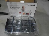 New 2 layer Dish Drainer still in box
