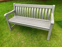 Large Timber Garden Bench painted in weather proof grey paint