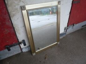 Gold Colour Framed Mirror Delivery Available mm016