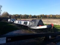 Narrowboat pair for sale with mooring, flexible home for family or home and office.