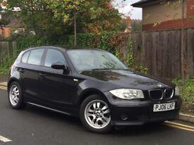 BMW 1 SERIES 116i 1.6 PETROL, 5 DOOR-MANUAL. 2006. LONG MOT. HPI CLEAR. PART EXCHANGE CONSIDERED