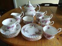 Royal Albert Tea Set Lavender Rose - Excellent Condition