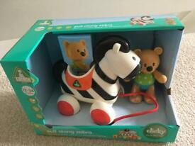 Toybox Pull Along Zebra