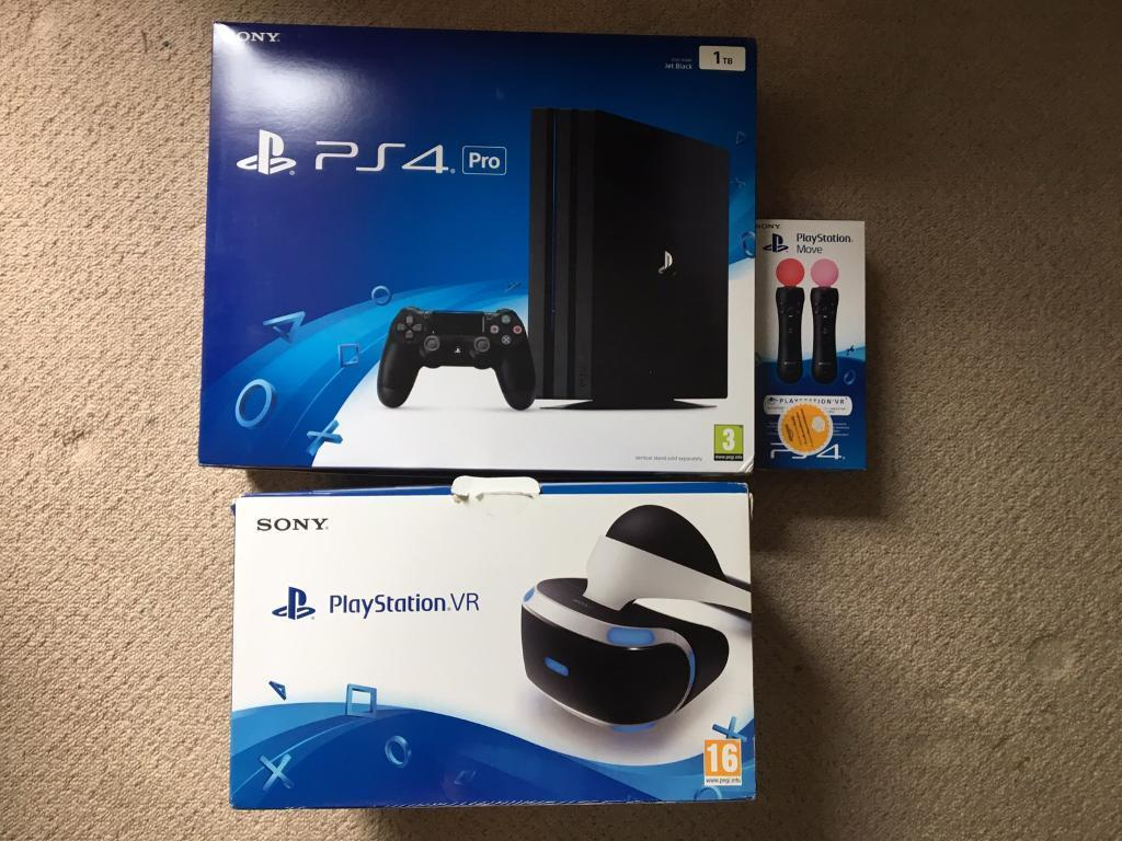 Ps4 pro with PlayStation vr + move controllers and PS4 camera + ...