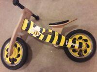 Kids Motion Balance bike (Halfords) - Bumble Bee design