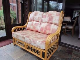 Cane furniture for conservatory