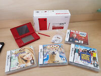 Nintendo Dsi Red Console With 4 games As New