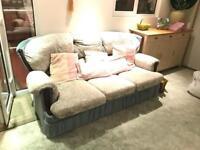 Three seats sofa plus two armchairs