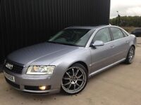 "2005 Audi A8 3.0 TDI Quattro 4dr Service History 20"" wheels Huge Spec May Px Finance Available"